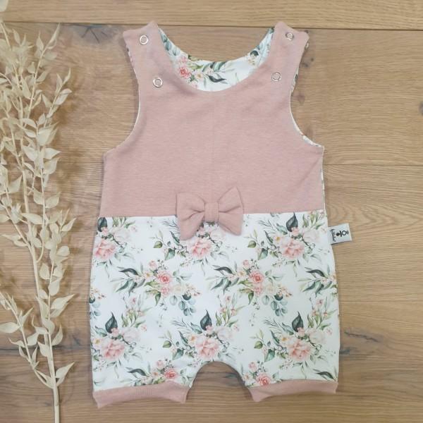 Sommerrose (Rose Melange) - Strampler kurz oder lang