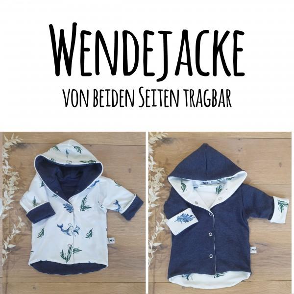 Wale & Seetang (A) - Dunkelblau Melange (B) - Wende oder Winter Jacke