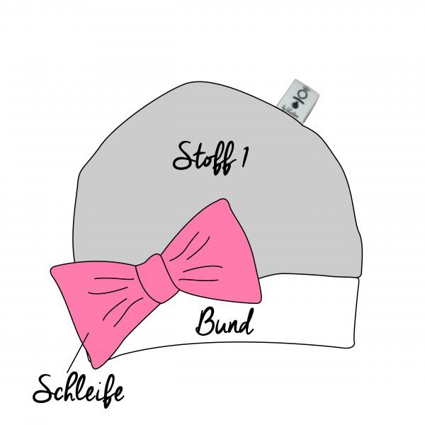 Mütze mit Schleife - Wunschdesign