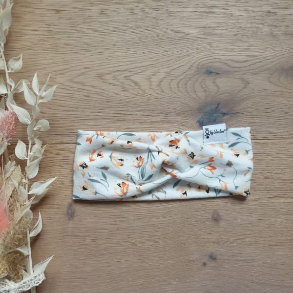 Streublumen Orange - Baby Kinder Stirnband - Leichte Viskose