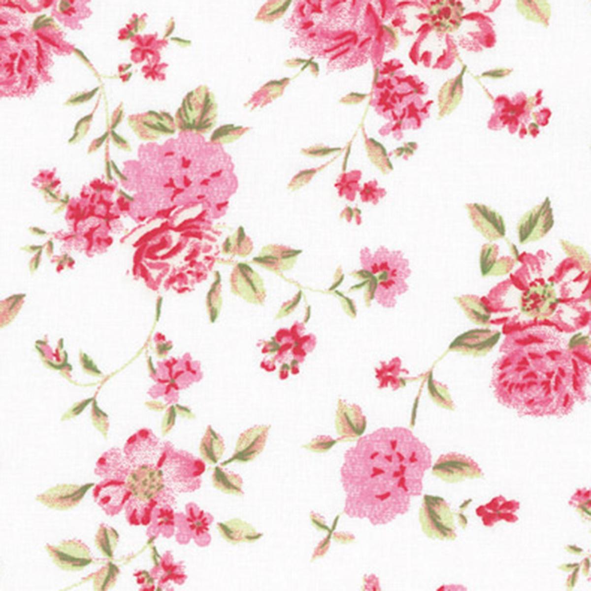 Weiss-Pink-Blumen