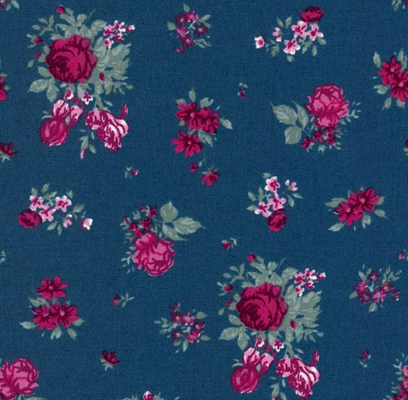 Blau-Bordeaux-Blumen